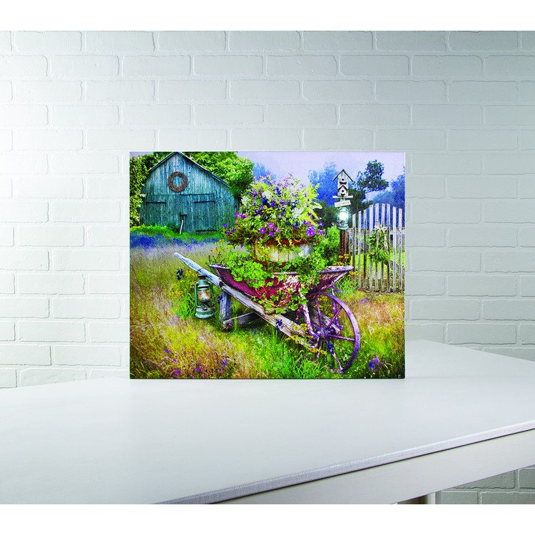 "Lighted Canvas Pictures - ""Garden in Spring"""