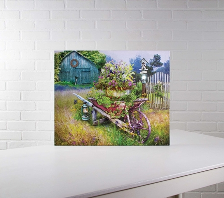 """Lighted Canvas Pictures - """"Garden in Spring"""""""