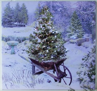 "Lighted Canvas Pictures - ""Garden In Winter"""