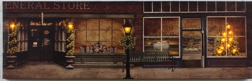 "Lighted Canvas Pictures - ""General Store"""