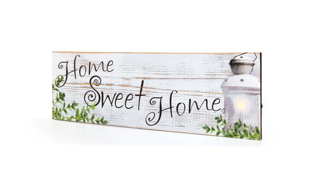 "Lighted Canvas Pictures - ""Home Sweet Home"""