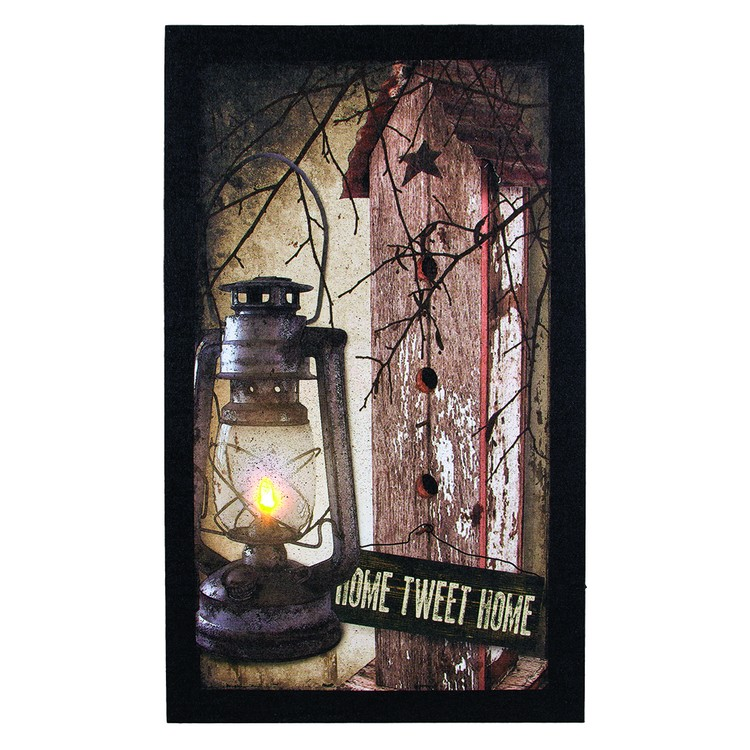 "Lighted Canvas Pictures - ""Home Tweet Home"""