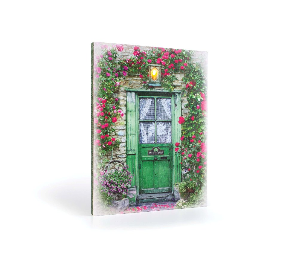 "Lighted Canvas Pictures - ""Irish Door"""