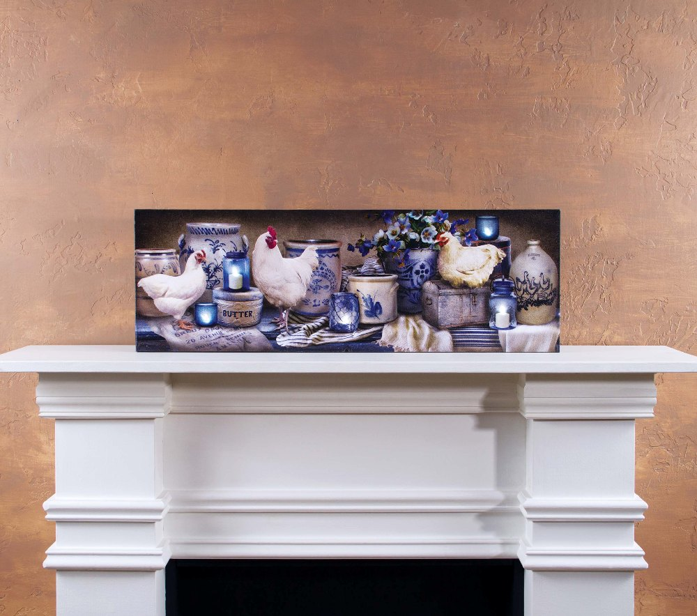 "Lighted Canvas Pictures - ""Large Crockery"""