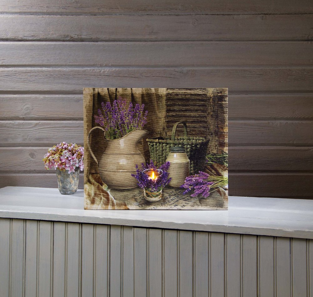 "Lighted Canvas Pictures - ""Lavender Days"""
