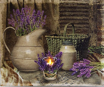 "Lighted Canvas Pictures - ""Lavendar Days"""