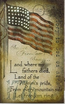 Lighted Canvas Pictures - Let Freedom Ring - 16in x 10in