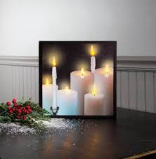 "Lighted Canvas Pictures - ""Lighted Pillars"""