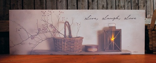 """Lighted Canvas Pictures - """"Live, Laugh, Love"""""""