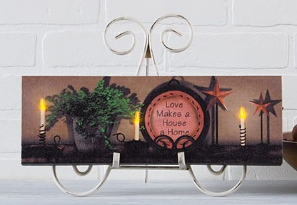 "Lighted Canvas Pictures - ""Love Makes A Home"""
