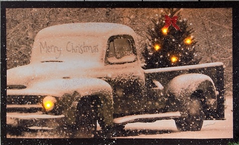 "Lighted Canvas Pictures - ""Merry Christmas"""