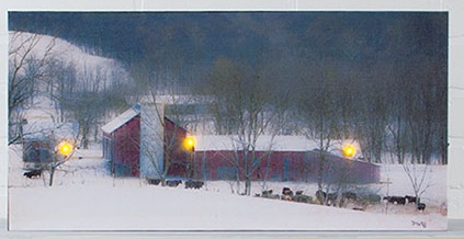 "Lighted Canvas Pictures - ""Millers Farm"""