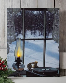 "Lighted Canvas Pictures - ""Oil Lamp"""