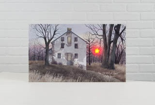 "Lighted Canvas Pictures - ""Old Mill At Sunset"""