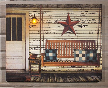"Lighted Canvas Pictures - ""Olde Sleepin Porch"""