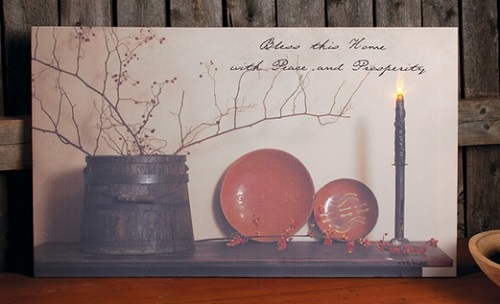"""Lighted Canvas Pictures - """"Peace & Prosperity"""""""
