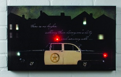 "Lighted Canvas Pictures - ""Police Car"""