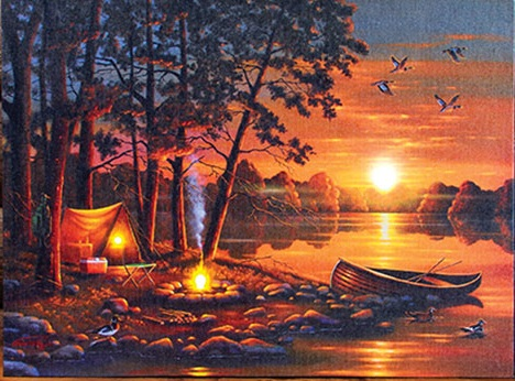 """Lighted Canvas Pictures - """"R & R"""""""