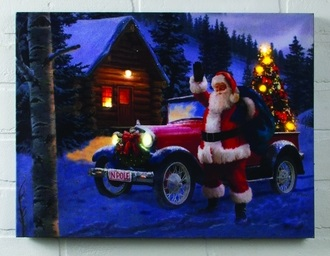 "Lighted Canvas Pictures - ""Santa's Truck"""
