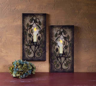 "Lighted Canvas Pictures - ""Lighted Sconces"""