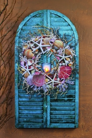 "Lighted Canvas Pictures - ""Seashell Shutter"""