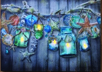 "Lighted Canvas Pictures - ""Seaside Collection"""