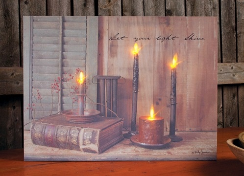 lighted canvas pictures battery operated lights flicker. Black Bedroom Furniture Sets. Home Design Ideas