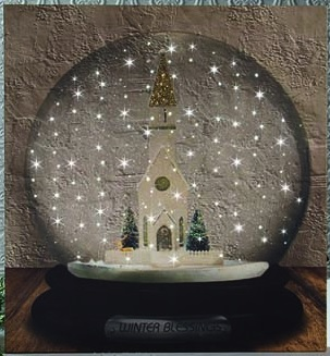 "Lighted Canvas Pictures - ""Snowglobe"""