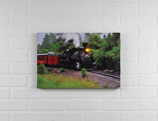 "Lighted Canvas Pictures - ""Steam Engine"""