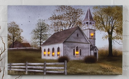 """Lighted Canvas Pictures - """"Sunday Meeting"""""""