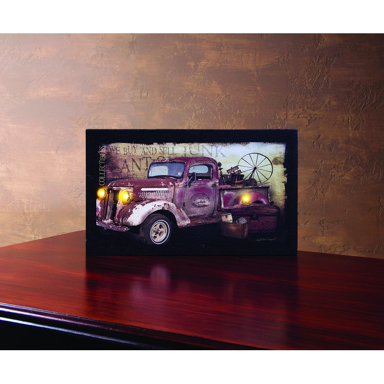 "Lighted Canvas Pictures - ""Taking Treasures Home Truck"""