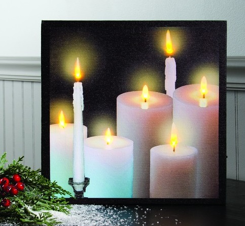 "Lighted Canvas Pictures - ""Tapers & Pillars"""