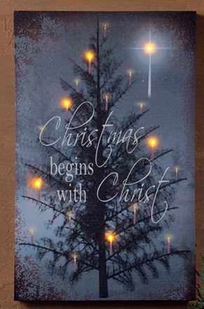 "Lighted Canvas Pictures - ""The C In Christmas"""