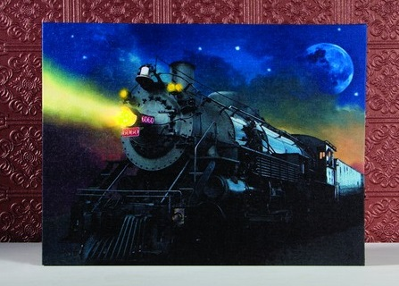 "Lighted Canvas Pictures - ""Train"""