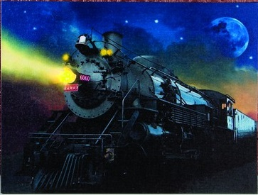 "Lighted Canvas Pictures - ""Train"" - Timer"