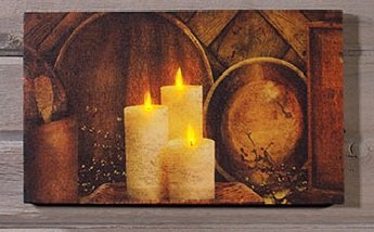 "Lighted Canvas Pictures - ""Treenware"""