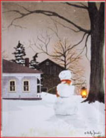 "Lighted Canvas Pictures - ""Winter's Night"""