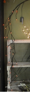 "Battery Operated Lighted Garland - ""Lighted Black Twig Garland"" - 5"" Long"