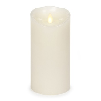 "Luminara� Flameless Candle - Battery Operated 3"" x 7"" Ivory Candle"""