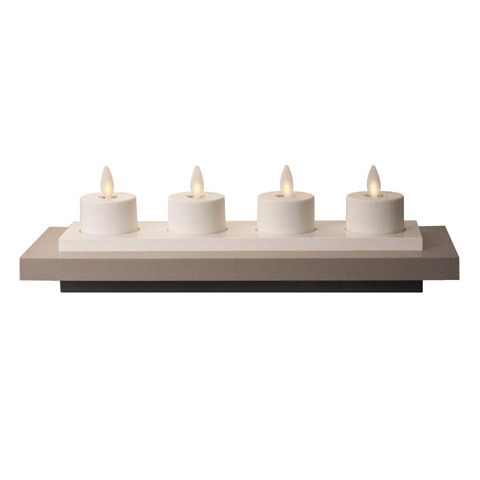 "Luminara� Flameless Rechargeable Tea Lights - ""Rechargeable Tea Lights - Set  4"""