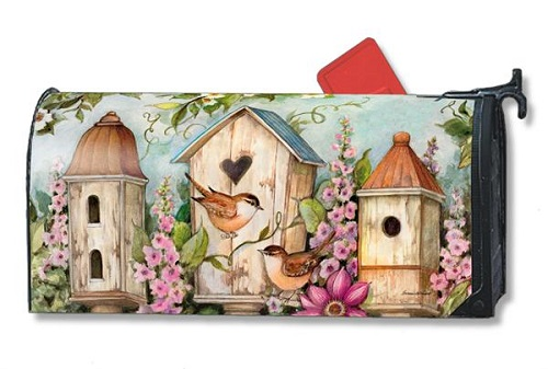 "Mailbox Wrap - ""Cottage Birdhouse"""