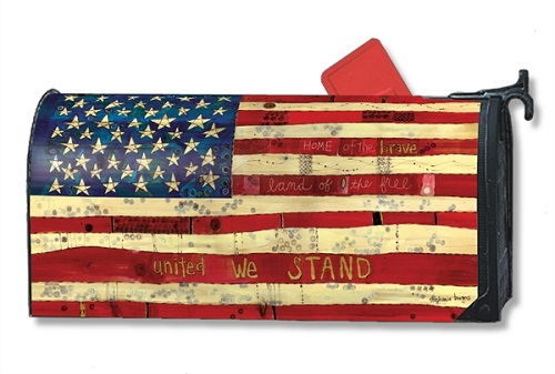 "Mailbox Wrap - ""Home Of The Brave"""