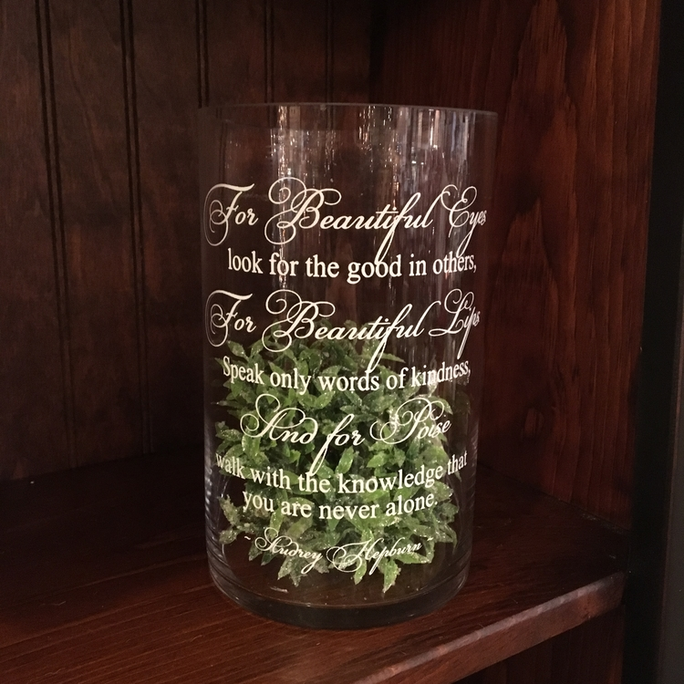 """Message Jar - """"Beautiful Eyes, Look For The Good In Others..."""" - 8"""""""