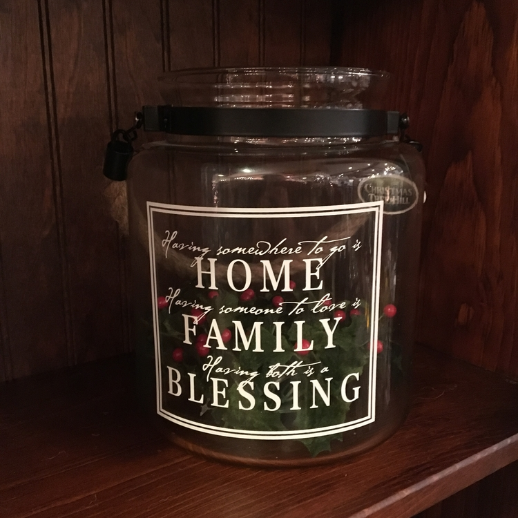 "Message Jar - ""Having Somewhere To Go Is Home..."" - 8.5"""