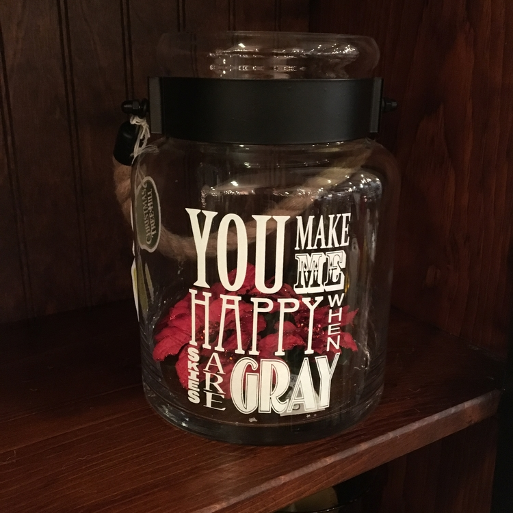 "Message Jar - ""You Make Me Happy..."" - 8"""