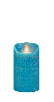 "Mirage Flameless Candle - Battery Operated 5"" x 3"" Marina"