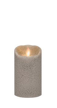"Mirage Flameless Candle - Battery Operated 5"" x 3"" Stone"