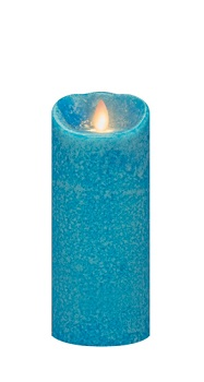 "Mirage Flameless Candle - Battery Operated 7"" x 3"" Marina"