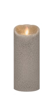 "Mirage Flameless Candle - Battery Operated 7"" x 3"" Stone"