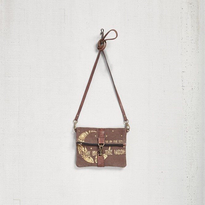"Mona B Foldover Crossbody - ""Moon Child"""
